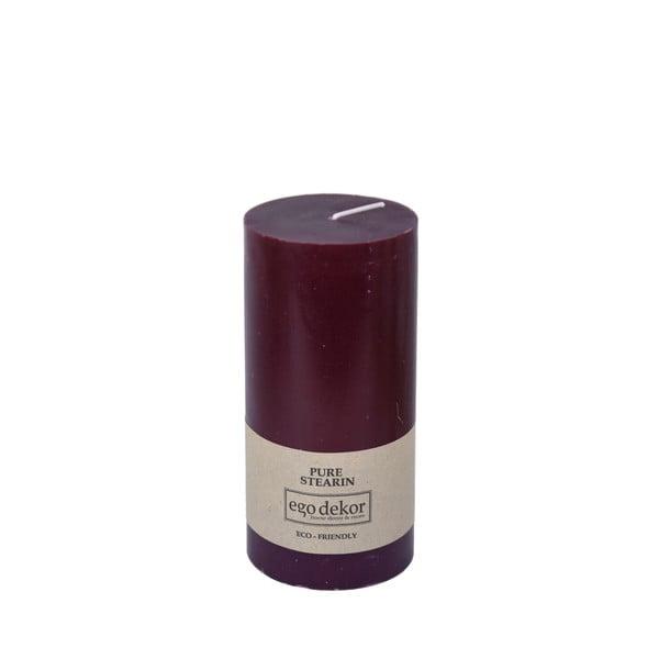 Vínově červená svíčka Baltic Candles Eco, výška 15cm