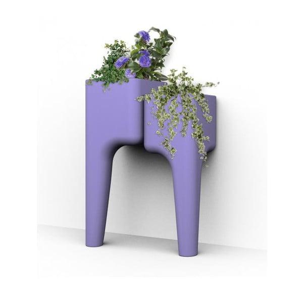 Designový květináč KIGA Small 88x34 cm, levandulový