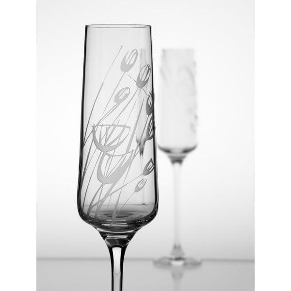 Ateliér Žampach, set 2 ks skleniček na šampaňské Černucha