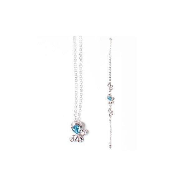 Set náhrdelník a náramek Swarovski Elements Tear Blue