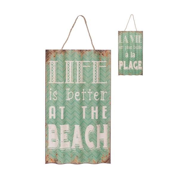 Závěsná cedule Beach Green, 36,5x94,5 cm