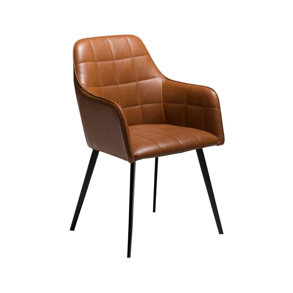 Hnědá koženková židle DAN-FORM Denmark Embrace Vintage