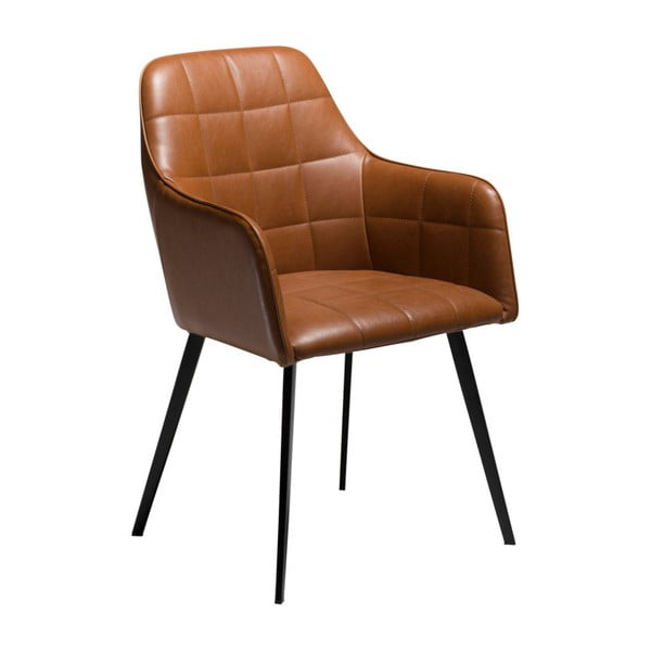 Brązowe krzesło ze skóry ekologicznej DAN-FORM Denmark Embrace Vintage