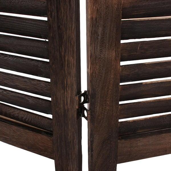 Hnědý dřevěný paraván Mendler Shabby, 182cm