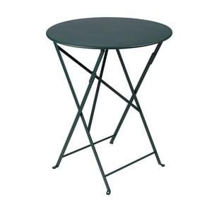 Tmavě zelený skládací kovový stůl Fermob Bistro