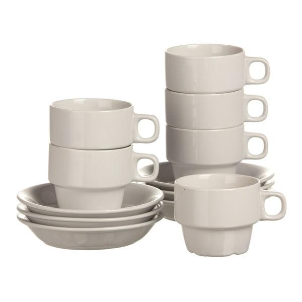 Sada 6 šálků na cappuccino White