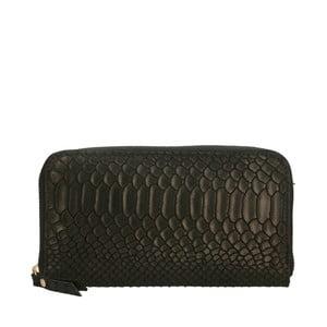 Černá kožená peněženka Chicca Borse Tarho