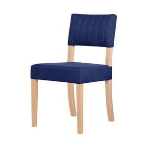 Modrá židle s hnědými nohami Ted Lapidus Maison Néroli