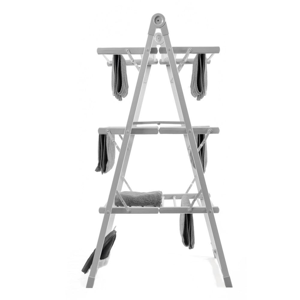 Šedý skládací elektrický stojan na prádlo InnovaGoods Clothes Airer