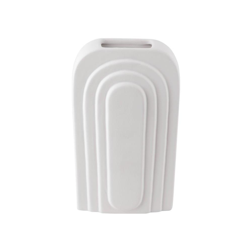 Bílá keramická váza PT LIVING Arc, výška 27 cm