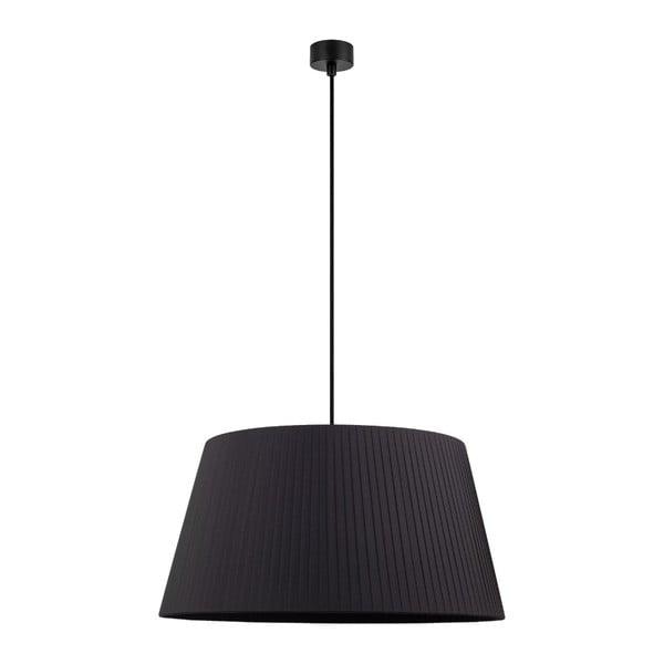 Kami fekete függőlámpa fekete kábellel, ∅ 54 cm - Sotto Luce