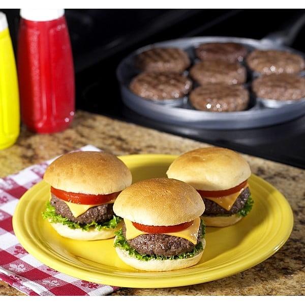 Litinová pánvička na hamburgery