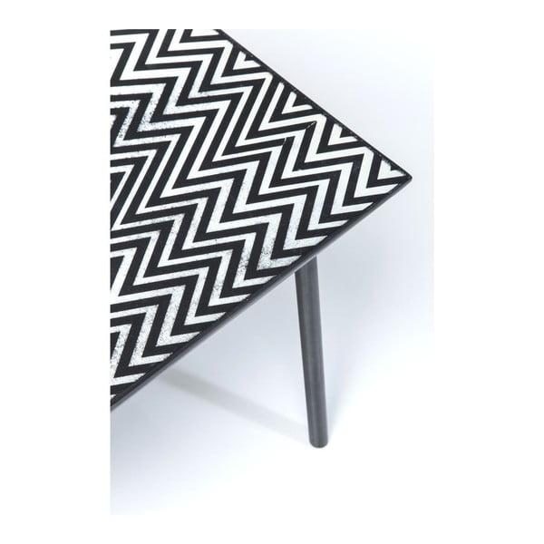 Černobílý konferenční stolek Kare Design Thekla