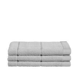 Sada 3 šedých ručníků z organické bavlny Seahorse,30x50cm