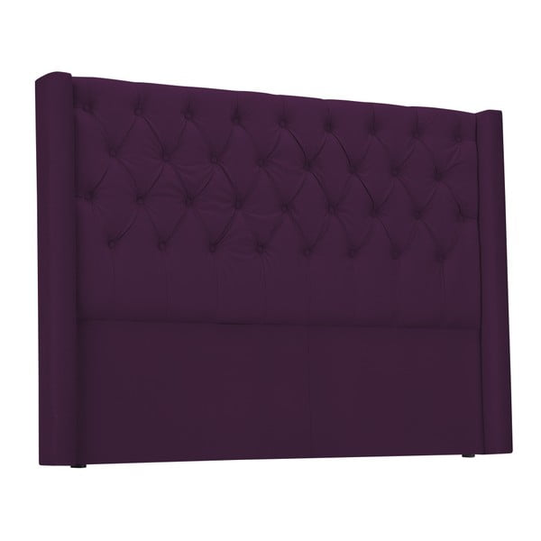 Fialové čelo postele Windsor & Co Sofas Queen, 156 x 120 cm