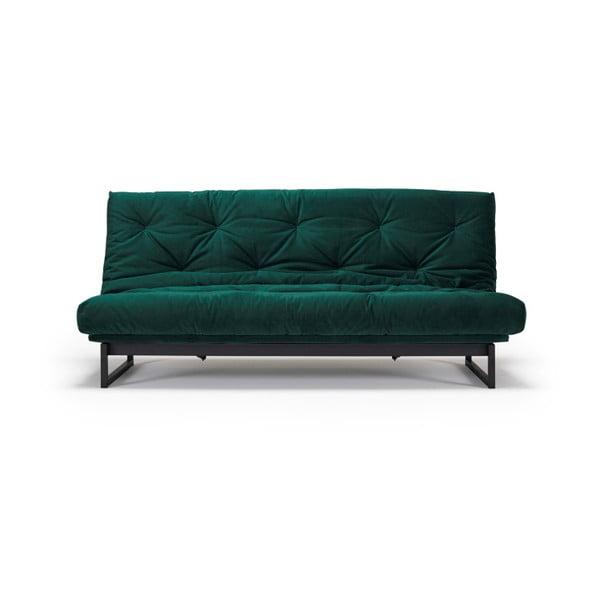 Canapea extensibilă Innovation Fraction Elegant Velvet Forest Green, 81 x 200 cm, verde