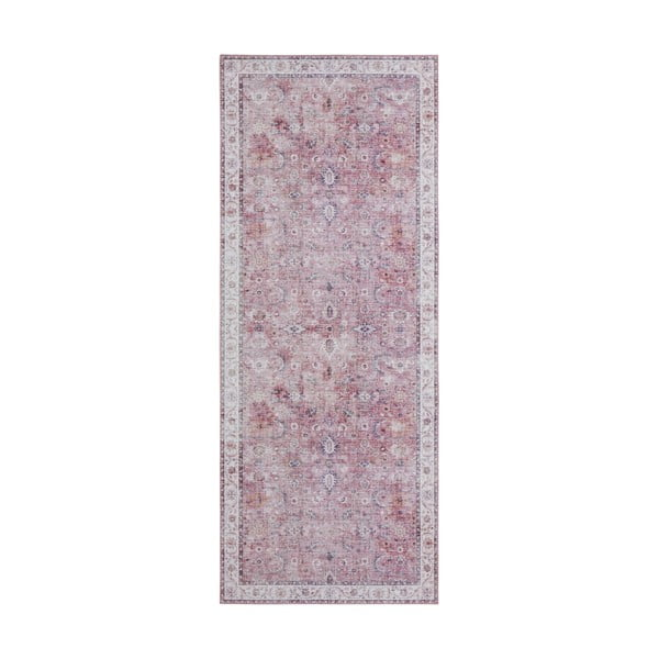 Světle červený koberec Nouristan Vivana, 80 x 200 cm