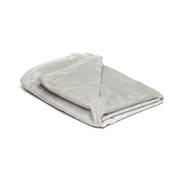Svetlosivá mikroplyšová deka My House, 150 × 200 cm