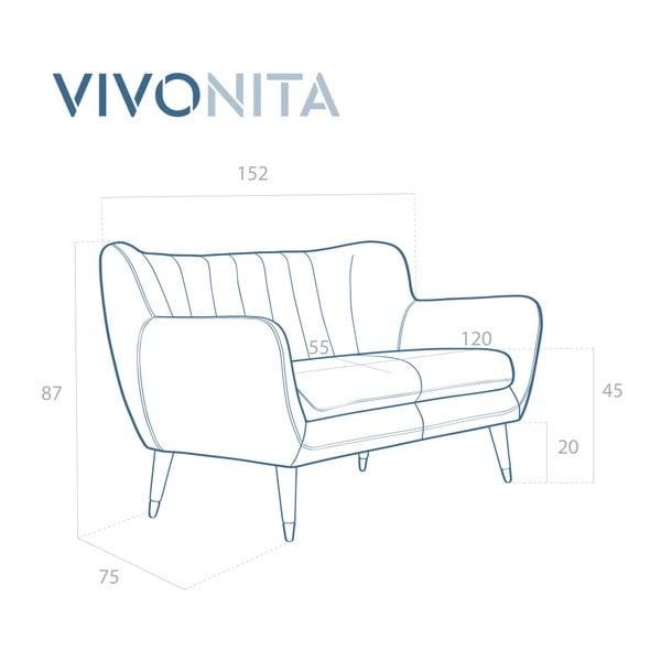 Béžová dvoumístná pohovka Vivonita Brandie