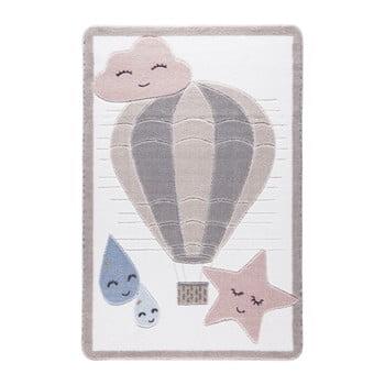 Covor pentru copii Confetti Cloudy, 133 x 190 cm, roz deschis de la Confetti