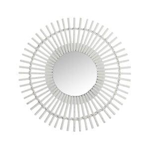 Bílé nástěnné zrcadlo J-Line Bars