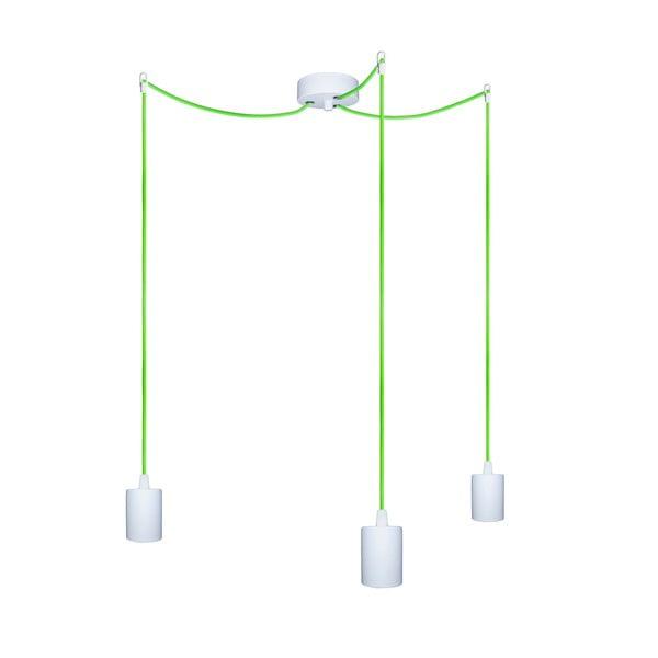 Tři závěsné kabely Cero, zelený/bílý