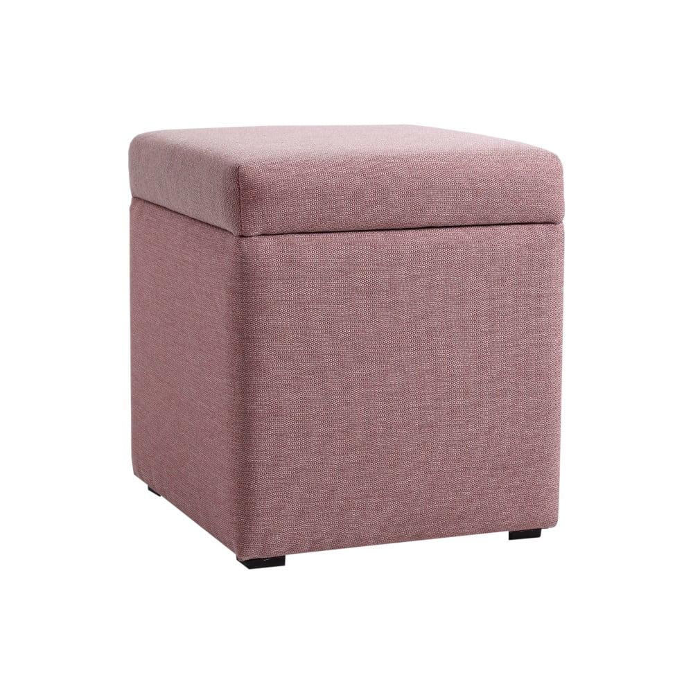 Růžová podnožka s úložným prostorem Custom Form Penny