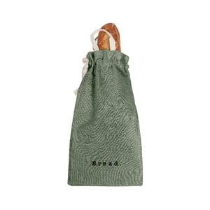 Látkový vak na chléb Linen Couture Bag Green Moss, výška 42 cm