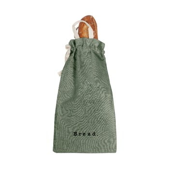 Săculeț textil pentru pâine Linen Couture Bag Green Moss, înălțime 42 cm imagine