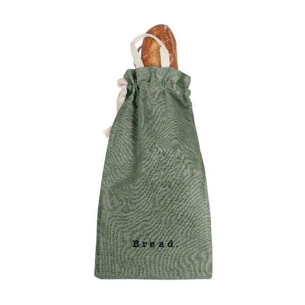 Bag Green Moss szövet és lenkeverék kenyértartó zsák, magasság 42 cm - Linen Couture