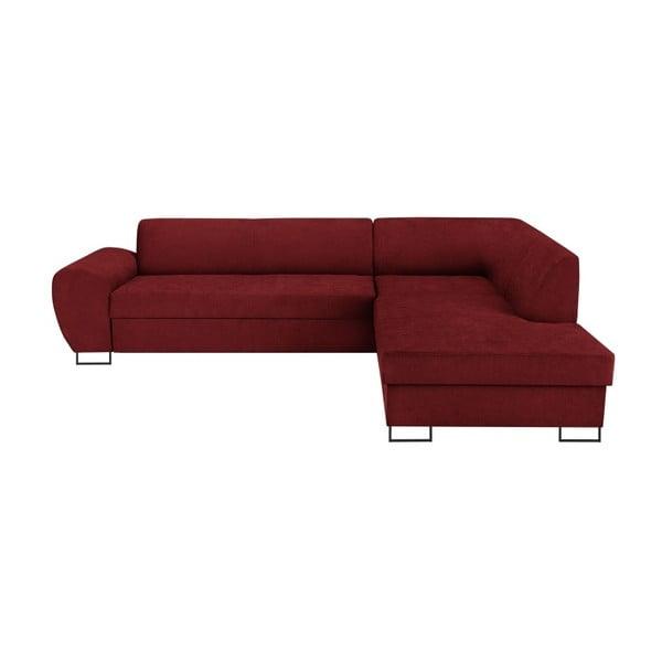 Canapea extensibilă cu spațiu pentru depozitare Kooko Home XL Right Corner Sofa Puro, roșu