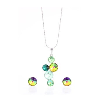 Set colier și cercei cu cristale Swarovski Elements Laura Bruni Songa