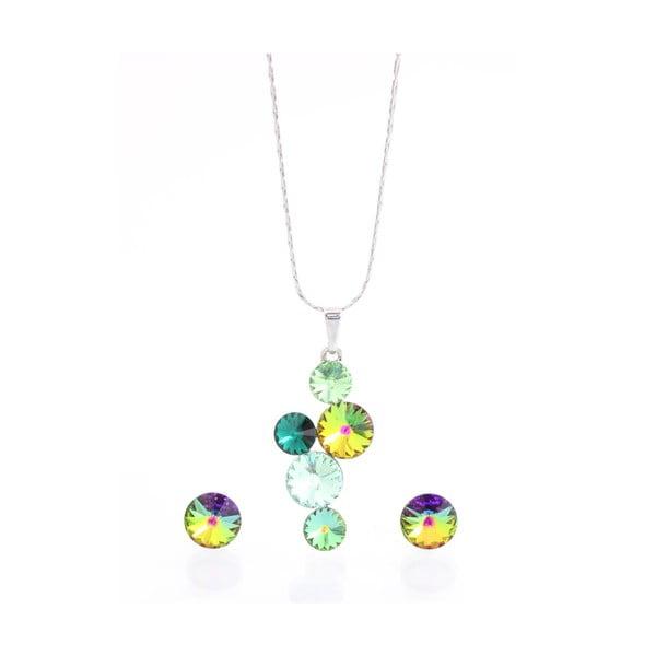 Set náhrdelníku a náušnic s krystaly Swarovski Elements Laura Bruni Songa