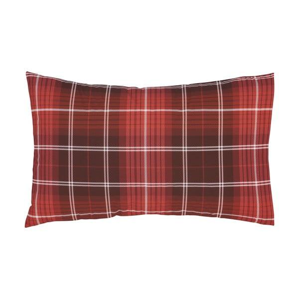 Sada 2 červených bavlněných povlaků na polštář Catherine Lansfield Brushed Tartan, 50 x 75 cm