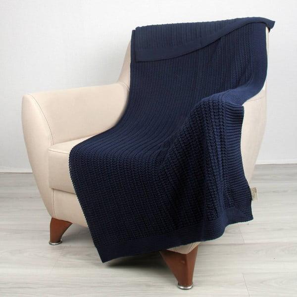 Modrá bavlněná deka Carla