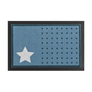 Rohožka Hanse Home Star and Dots Light Blue, 40 x 60 cm
