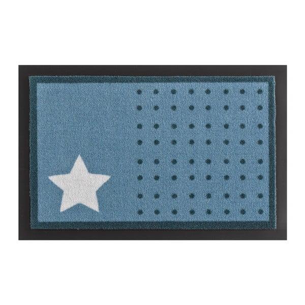 Star and Dots Light Blue lábtörlő, 40 x 60 cm - Hanse Home