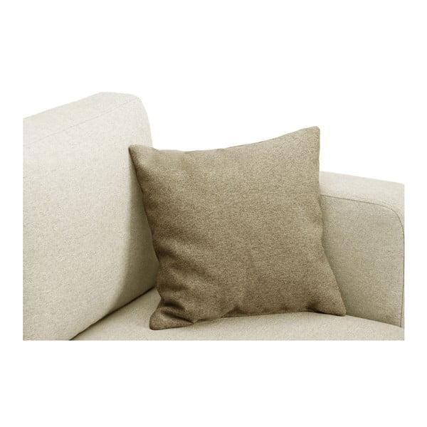Krémová trojmístná pohovka se 2 béžovými polštáři Stella Cadente Maison Canoa
