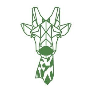 Zelená kovová nástěnná dekorace Giraphe