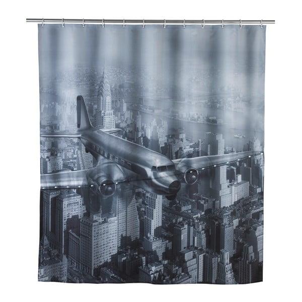 Led Plane szürke zuhanyfüggöny, 180 x 200 cm - Wenko