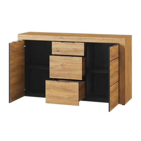 Dvoudveřová komoda se 3 zásuvkami Szynaka Meble Kama