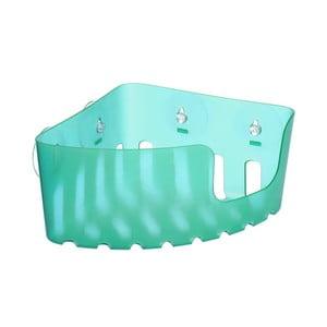 Tyrkysový nástěnný rohový koupelnový košík bez nutnosti vrtání Ta-Tay Corner Storage Basket Standart