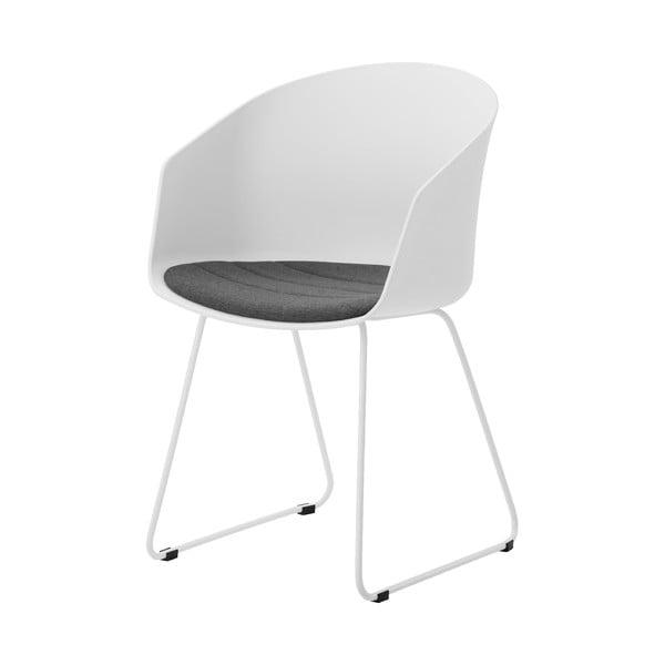 Bílá jídelní židle s bílými nohami Interstil Moon 40