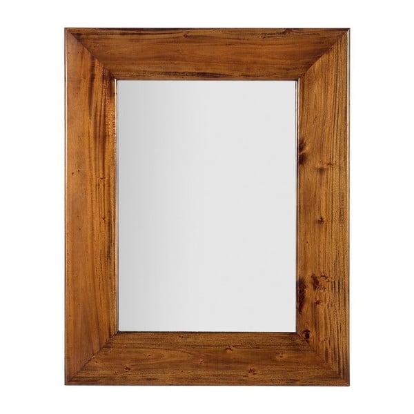 Zrcadlo v rámu z mahagonového dřeva Moycor Flamingo, 80 x 100 cm