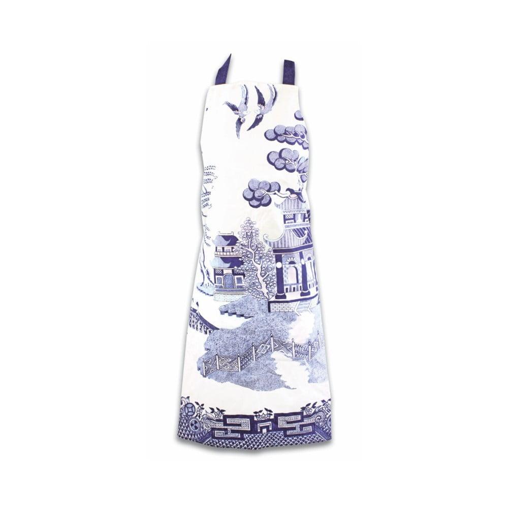 Zástěra z čisté bavlny Gift Republic Blue Willow