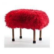 Stolička z ovčí kůže Nerys Dragon Red