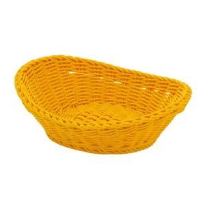 Košík Ovaler Yellow, 23,5x16x6,5 cm