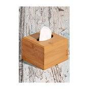 Bambusová krabička na kapesníky Napkin, 11,5 x 11,5 cm