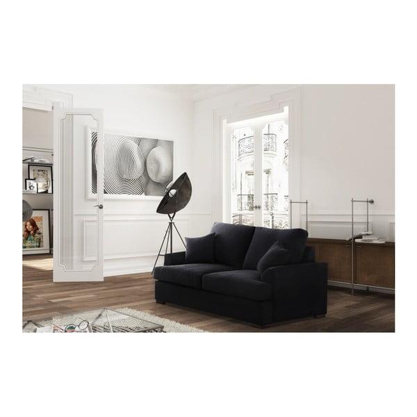 Dvoumístná pohovka Jalouse Maison Irina, černá