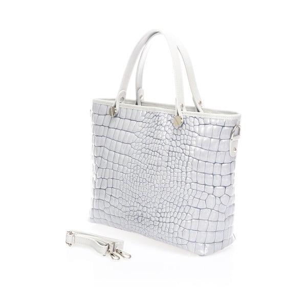 Kožená kabelka Kellie, šedá